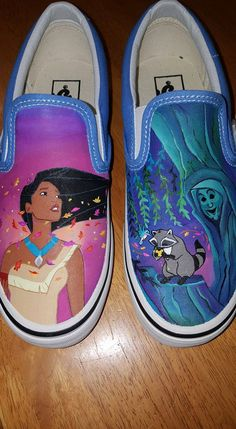 Pocahontas Painted Vans by ShoeBopALoo on Etsy