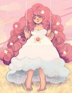 riadoodles:  Rose Quartz sitting on her swing~!! <3