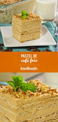Cake Bars, Sweets Cake, Coffee Recipes, No Bake Desserts, Mexican Food Recipes, Cake Recipes, Sweet Tooth, Bakery, Food And Drink