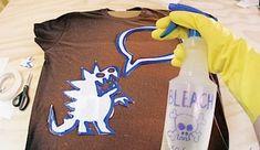tecnica para decorar camisetas con lejia