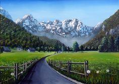 Logarska dolina - Oil on canvas