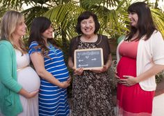 Had to capture this special time in our lives... My mom (grandma-to-be!) & both sister-in-laws who are also pregnant right now! THREE Cousins / Grandbabies on their way this year... talk about a FUN Mother's Day today! Feeling SO blessed. <3 (Unique maternity photo, Maternity Pics, Belly Photo, Family, Grandmother, Pregnant Sisters, Pregnancy Photography)