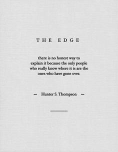 The Edge / Hunter S. THompson