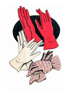 How-To: Mid-Century Vintage Day Gloves If you're a fan of the coordinated hats, gloves, shoes, and handbags of bygone eras, you'll love this vintage pattern for sewing mid-century day gloves! Free Sewing, Vintage Sewing Patterns, Hand Sewing, Sewing Tutorials, Sewing Hacks, Sewing Projects, Sewing Ideas, Gants Vintage, Vintage Accessoires