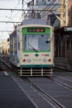 東京の路面電車。都営荒川線