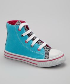 Love this Turquoise Hi-Top Sneaker by Chatties on #zulily! #zulilyfinds