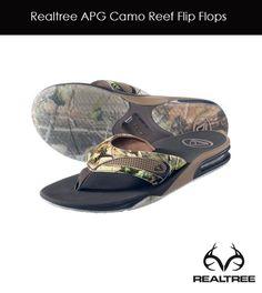 Realtree APG Camo Reef Flip Flops #realtree #camo #flipflops