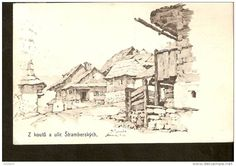 Czech Republic, Stramberk ( Morava ) - passed post in 1910 Czech Republic, Postcards, Vintage World Maps, Antiques, Illustration, Antiquities, Antique, Illustrations, Bohemia