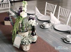 www.kamalion.com.mx - Decoración / Vintage / Rustic / Mint & Purple / Menta & Morado / Centerpiece / Centros de Mesa