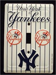 new york yankees mbl aluminum novelty single light switch cover plate braydens room. beautiful ideas. Home Design Ideas