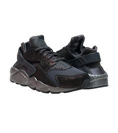 NIKE SPORTSWEAR WOMENS HUARACHE RUN PREM Black Mid Top Shoes, Nike Air Huarache, Nike Sportswear, Nike Logo, Jazz, Street Wear, Footwear, Lace Up, Sneakers Nike