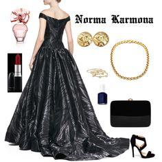 Norma Karmona by normacarmona on Polyvore featuring moda, Christian V Siriano, Rocio, Chanel, London Road, MAC Cosmetics, BCBGMAXAZRIA and Essie