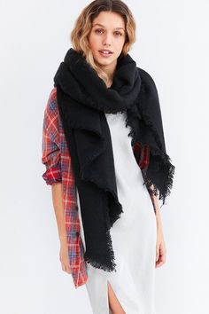 Nubby Oblong Blanket Scarf