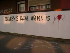 Banksy's real name is..
