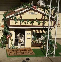 """""""Best in Show"""" Doghouse Contest Winners! Dog Houses, Bird Houses, Dog Mansion, Bay Window, Window Wall, Creature Comforts, Pet Treats, Pet Life, Cool Pets"""