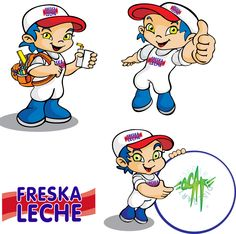 poses personaje Lecherito Freska leche