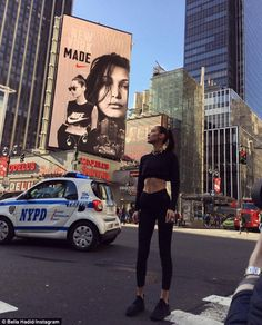 Just Do It! Bella, who will soon be walking in her first Victoria's Secret Fashion Show, t...