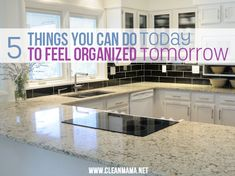 5 Things You Can Do Today to Feel Organized Tomorrow via Clean Mama
