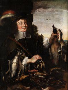 DER VOGELJÄGER Öl auf Leinwand. 114 x 90 cm. Gerahmt. (10018015) (10) Stephan Kessler, 1622 Donauwörth - 1700 Brixen, attributed THE FOWLER Oil on canvas....