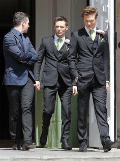 McFly Harry Judd, Danny Jones, Dougie Poynter in Tom Fletcher's wedding