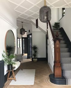 The Cottage 13 Entrance Hall Decor Ideas The Wonder Cottage Decor Cottage entrance Hall Hallway ideas ideas Edwardian Hallway, Edwardian Haus, Edwardian Staircase, Flur Design, Home Design, Interior Design, Entrance Hall Decor, House Entrance, Entrance Halls