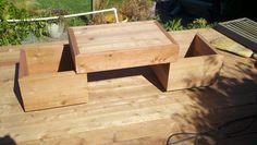 Redwood Planter Box with Bench, Marin County, Novato, CA