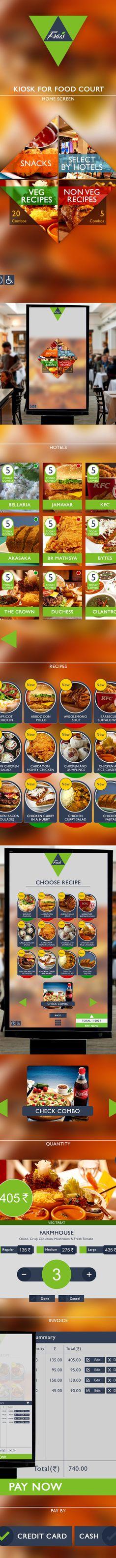 Kiosk UI/UX Design for Food Court on Behance