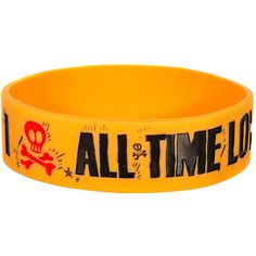 All Time Low Heart Bone Wristband (Yellow) (£4.99) ❤ liked on Polyvore featuring jewelry, bracelets, yellow jewelry, heart jewelry, yellow bangles, heart shaped bracelet and heart bracelet