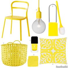 bright yellow home accessories  - HouseBeautiful.com