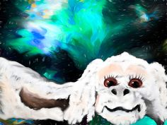 Falkor the Luckdragon by Abstract Angel Artist Stephen K Alien Artist, Real Genius, Digital Art, Greeting Cards, Angel, Wall Art, Abstract, Artwork, Fictional Characters