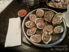 Raw Oysters - nothing fancy...just back to basics.  Sit at the bar and say yes when they ask you if you want them to mix up a sauce concoction for you!  Be ready for some horseradish!!