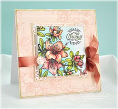 Copic with Inchie Art Squares - Debbie Olson Poppy Cards, Atc Cards, Beautiful Handmade Cards, Marker Art, Copics, Flower Cards, Scrapbook Cards, Homemade Cards, Making Ideas