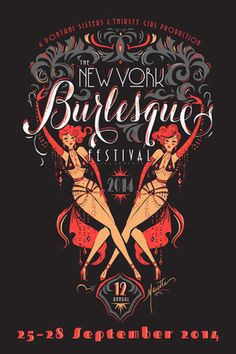 Celebrating over a Decade, of Glitter and Glamour in Gotham with over 100 performers from around the Globe!   The Annual New York Burlesque Festival is the largest and most acclaimed festival of its