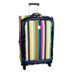 Jenni Chan Multi Stripes 28-inch 360 Quattro Spinner Upright | Overstock.com $105