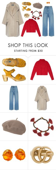 """""""Untitled #7389"""" by amberelb ❤ liked on Polyvore featuring Toast, Rachel Comey, Alberta Ferretti, Topshop, Bohemia, Chanel and Gucci"""