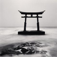 Torii Gate, Study 2, Shosanbetsu, Hokkaido, 2014 by  Michael Kenna