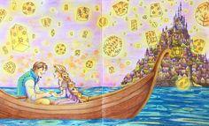 ✏︎✏︎✏︎2016.5.20.fri . . ♪かがやーいーてーいるー♪ . . #大人の塗り絵 #ぬりえ #ぬり絵 #塗り絵 #coloringbook #coloring #コロリアージュ #クーピー #パステル #色鉛筆 #disney #ディズニー#ディズニープリンセス #塔の上のラプンツェル #ラプンツェル #ディズニーガールズ #四季を彩るディズニー塗り絵 #塗り絵の記録 #自己満 . . .