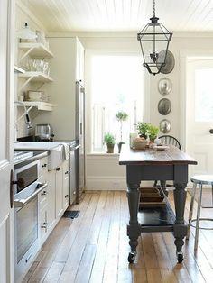 grey and cream kitchen