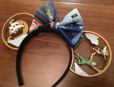 Happy flight to Neverland Friday! Of all our designs, this pair is the one we get the most requests for a full paint job. Diy Disney Ears, Disney Mickey Ears, Disney Diy, Disney Crafts, Cute Disney, Disney Girls, Disney Style, Mickey Ears Diy, Disneyland Ears