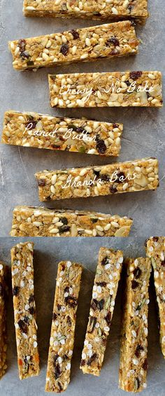 chewy, no-bake peanut butter granola bars - easy to make, versatile snack bars filled with oats, seeds, nuts and dried fruit.