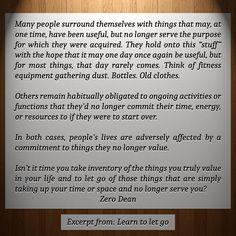 Excerpt from: Learn to let go  #zerosophy