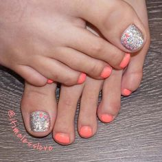 21 elegant toe nail designs for spring and summer: vibrant spring & summer pedicure; Summer Pedicure Colors, Summer Toe Nails, Summer Pedicures, Simple Toe Nails, Cute Toe Nails, Elegant Nail Designs, Nail Designs Spring, Summer Toenail Designs, Pedicure Designs