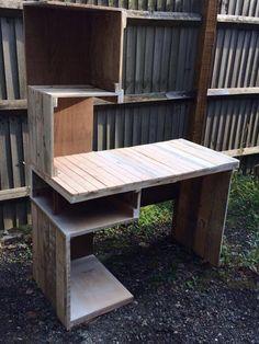 DIY Pallet Computer #Desk or Media #Table | 99 Pallets