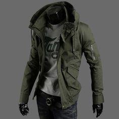 Más el tamaño M-5XL 2015 chaquetas de primavera para hombre hombres vendedores calientes de moda chaqueta de ocio chaqueta para hombre militar escudo no. Y146