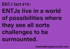 ENTJ fact #16...I often find myself in over my head thanks to this annoying little personality trait.