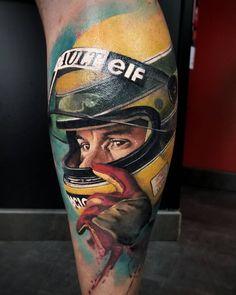 Tattoo artist Adrian Ciercoles, authors style color portrait realistic tattoo | Spain