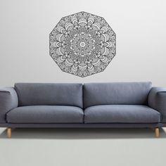 Mandala Wall Decal Namaste Flower Mandala Lotus por SuperVinylDecal, $24.99