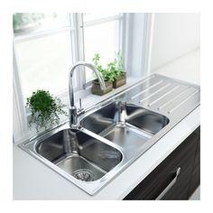 BOHOLMEN 2 bowl inset sink with drainer IKEA 25 year guarantee. Read about the terms in the guarantee brochure.