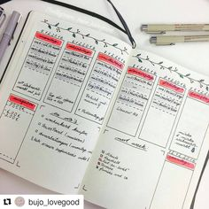 "Polubienia: 1,635, komentarze: 10 – BJC | Bujo collection (@bulletjournalcollection) na Instagramie: ""Looks great, with unique touches. . #Repost @bujo_lovegood (with @repostapp): This week I want to…"""