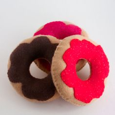 Felt Doughnuts with glitter by WhispersofaChildhood on Etsy, $14.99